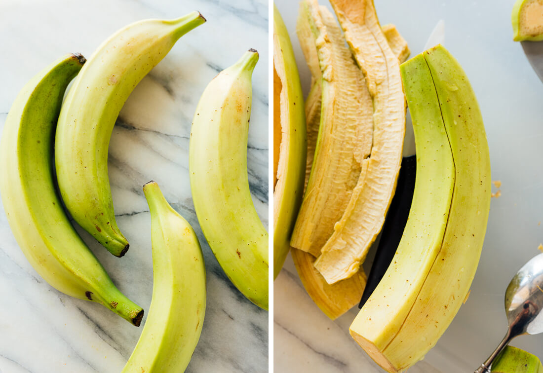green plantains for tostones