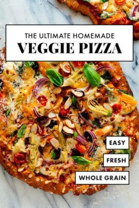 pizza vegetariana casera