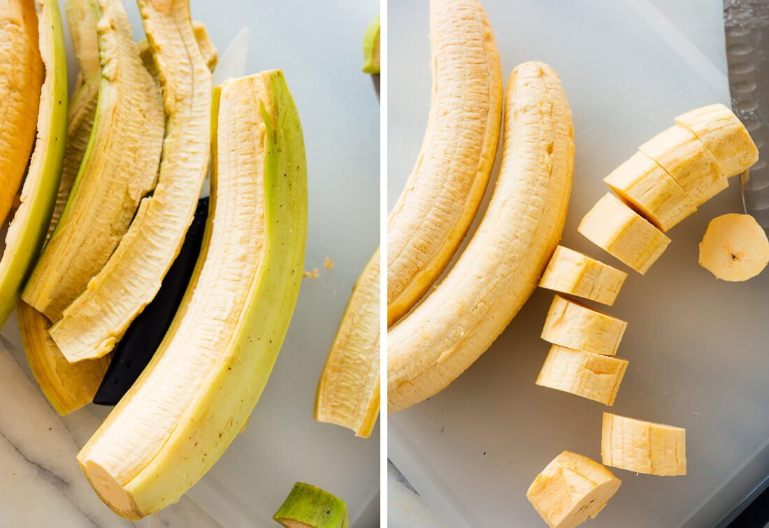 how to prepare plantains for tostones