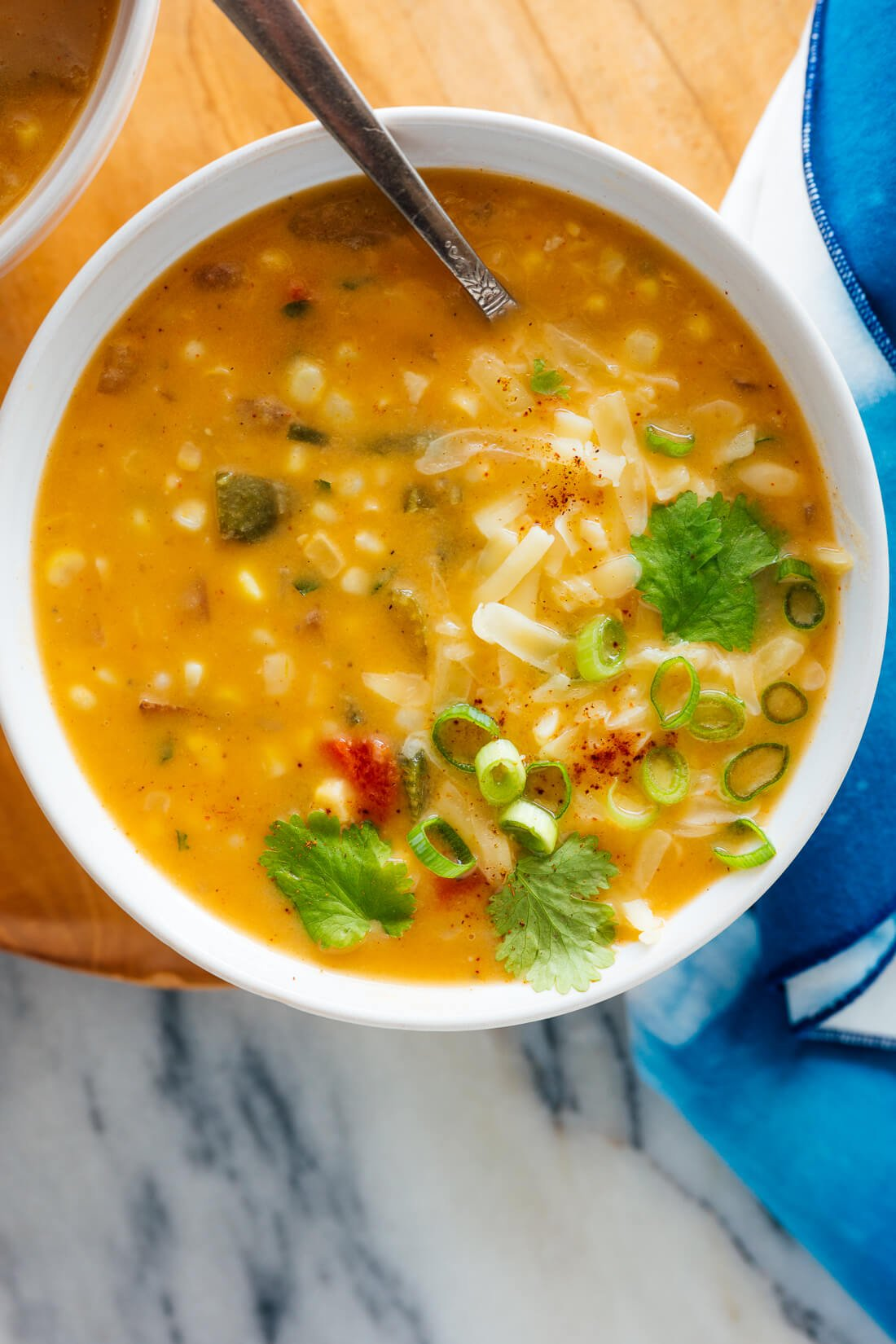 vegetarian corn chowder recipe