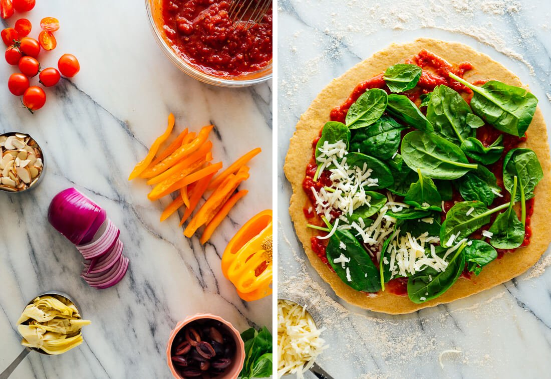 veggie pizza ingredients