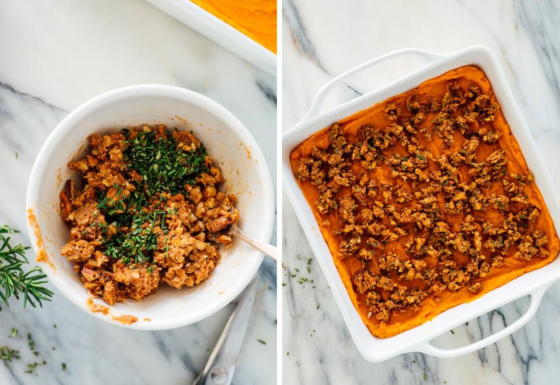 assembled sweet potato casserole