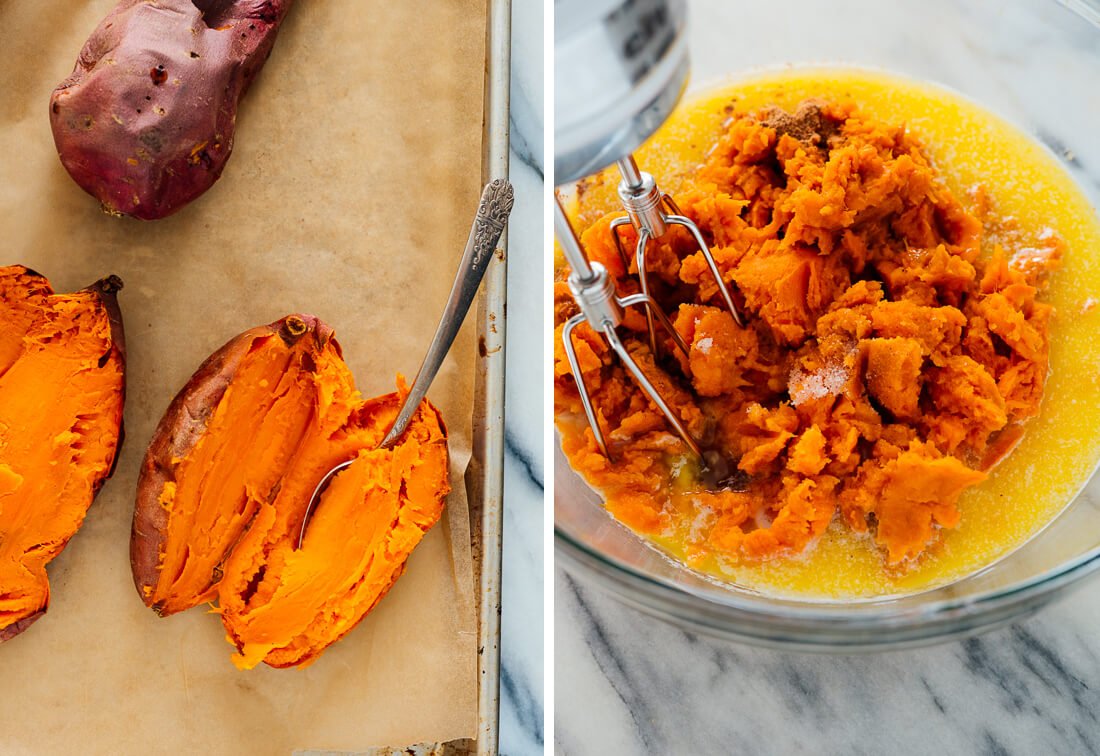 baked sweet potatoes for baked sweet potato casserole