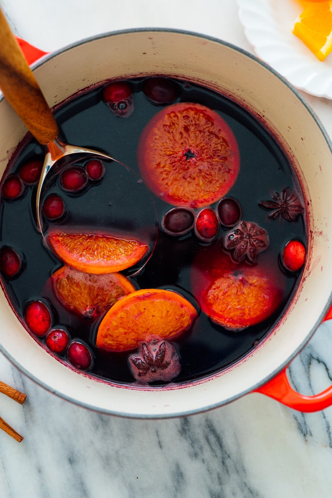 mulled wine in pot