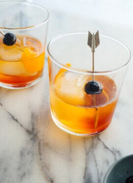 old fashioned cocktail with maple syrup