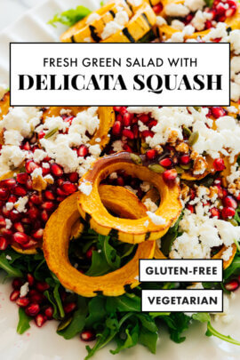 delicata squash green salad