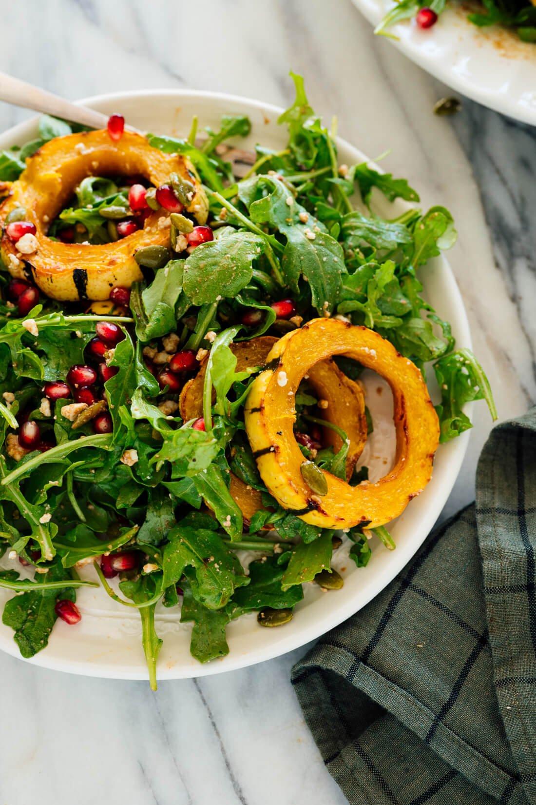 delicata squash salad on plate