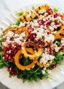 delicata squash salad with balsamic dressing
