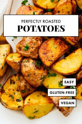 perfectly roasted potatoes pin