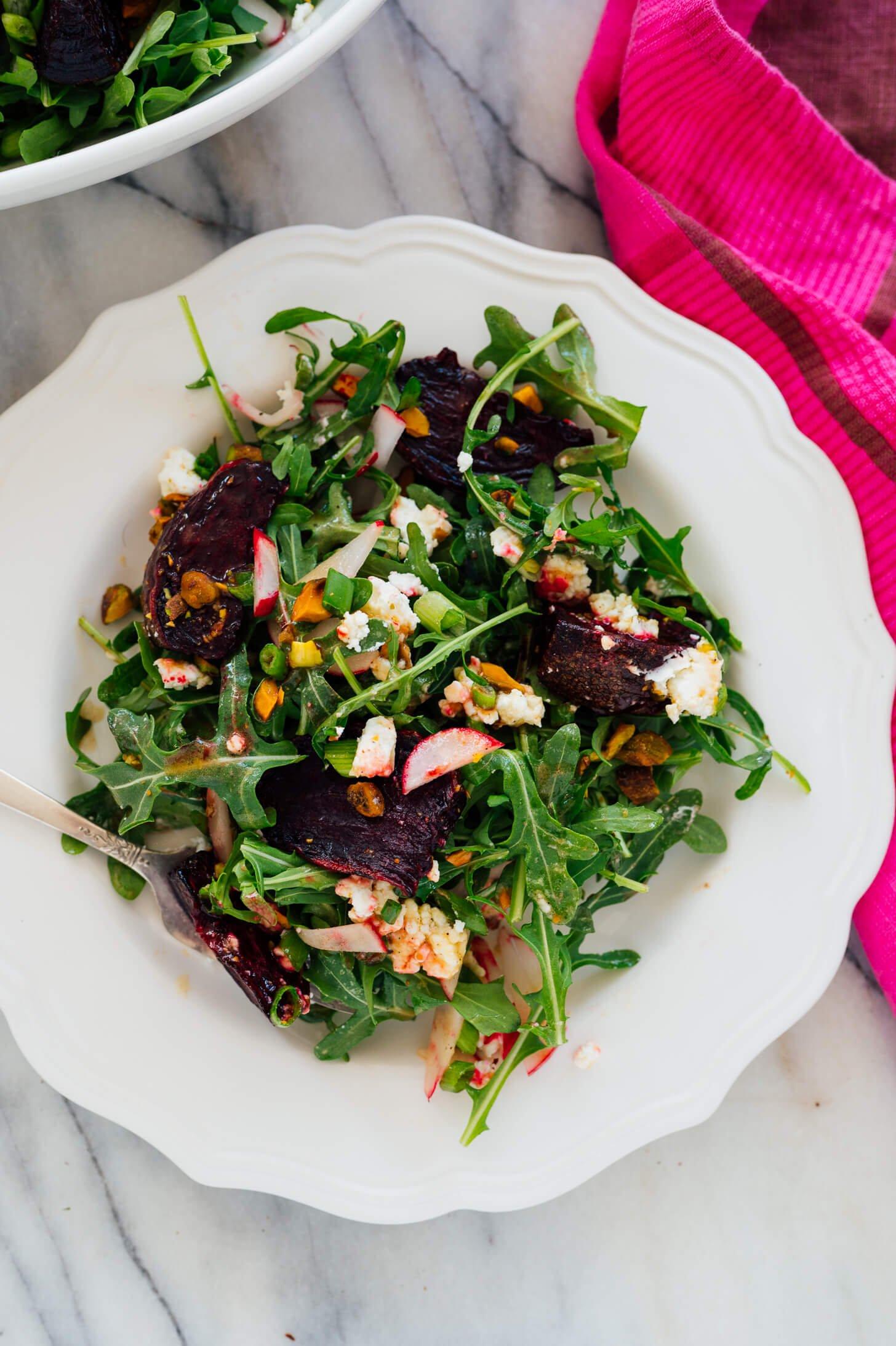 beet salad on plate