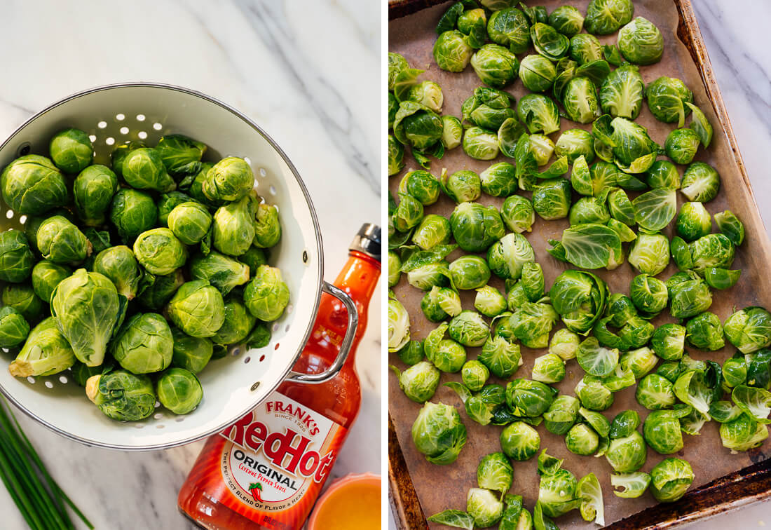 Buffalo Brussels sprouts ingredients
