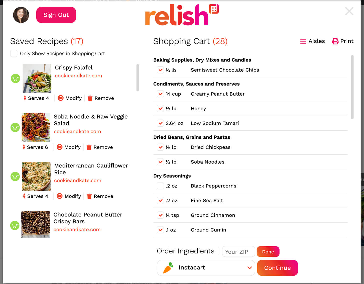 relish overlay