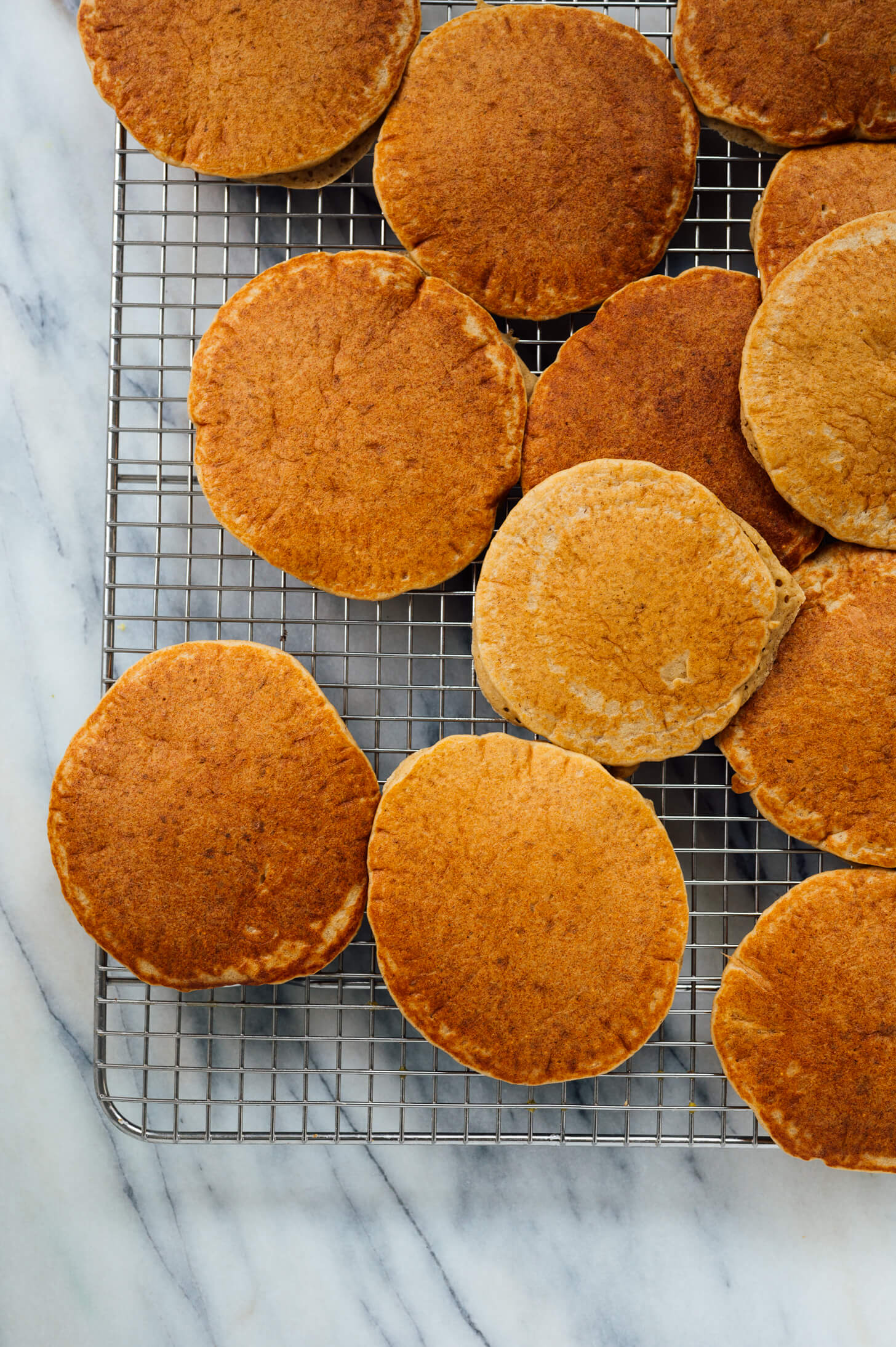 healthy oatmeal pancakes on cooling rack