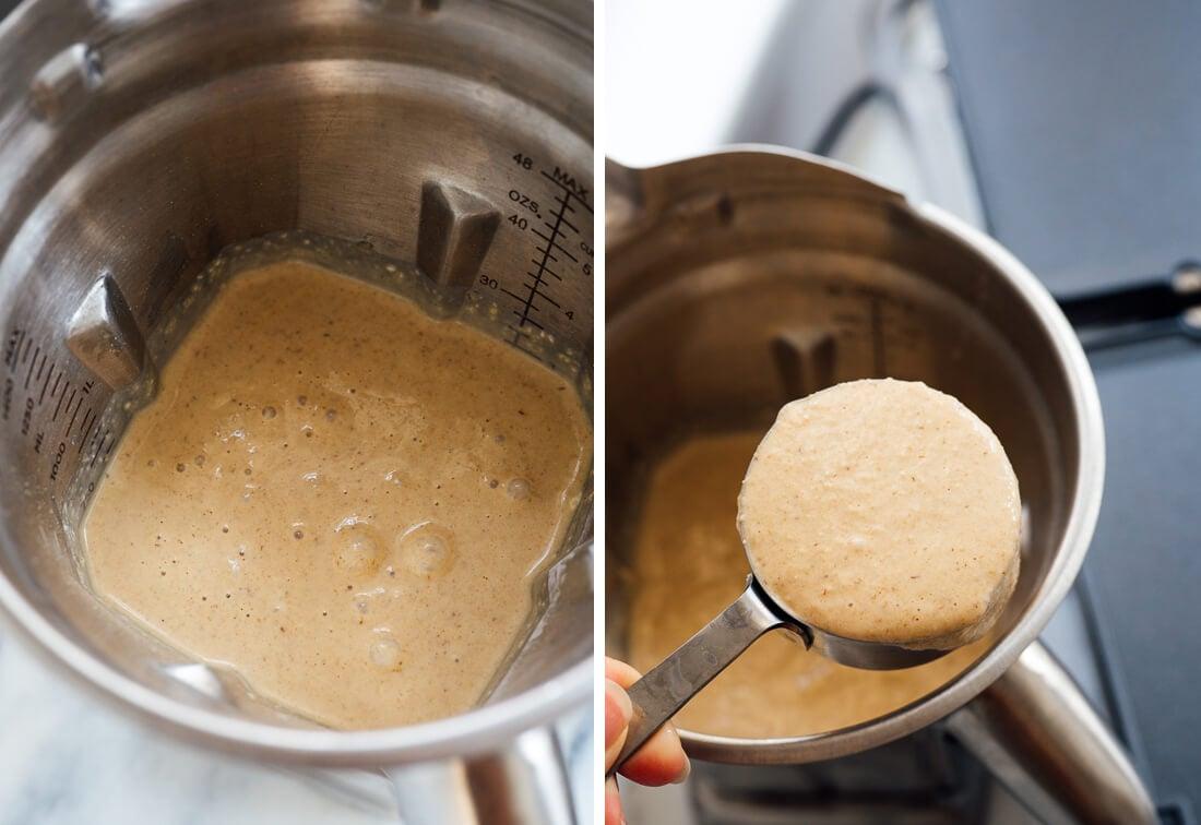 oatmeal pancake batter in blender