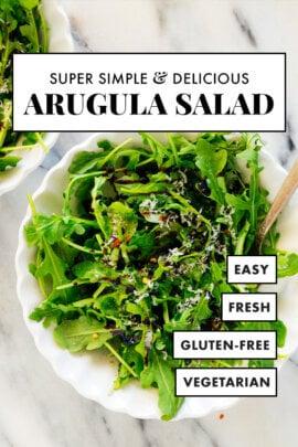 super simple arugula salad recipe