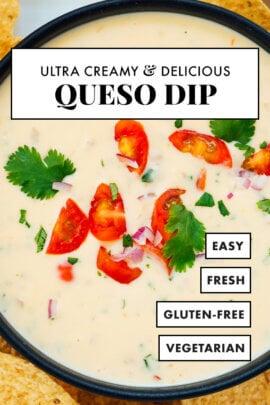 Creamy Mexican queso dip recipe
