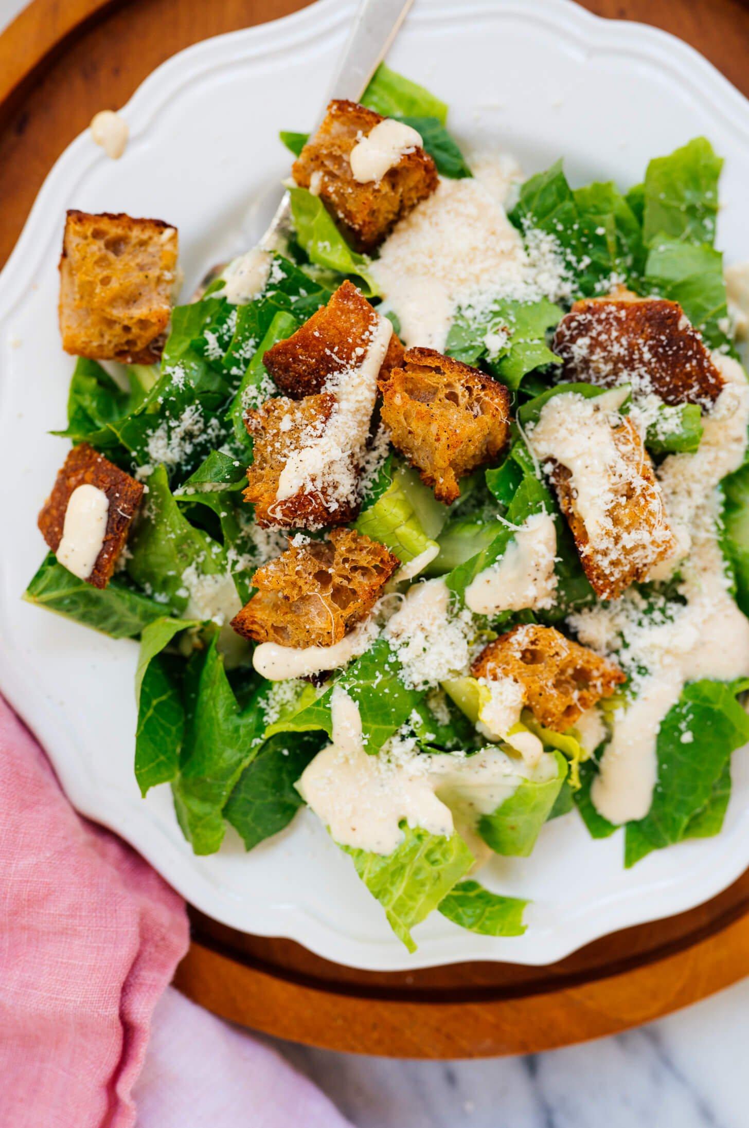 croutons on Aaesar salad