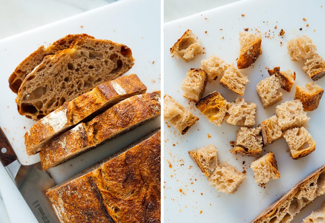 sliced bread for croutons