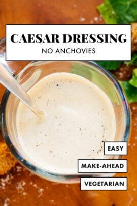 Caesar salad dressing recipe (no anchovies)