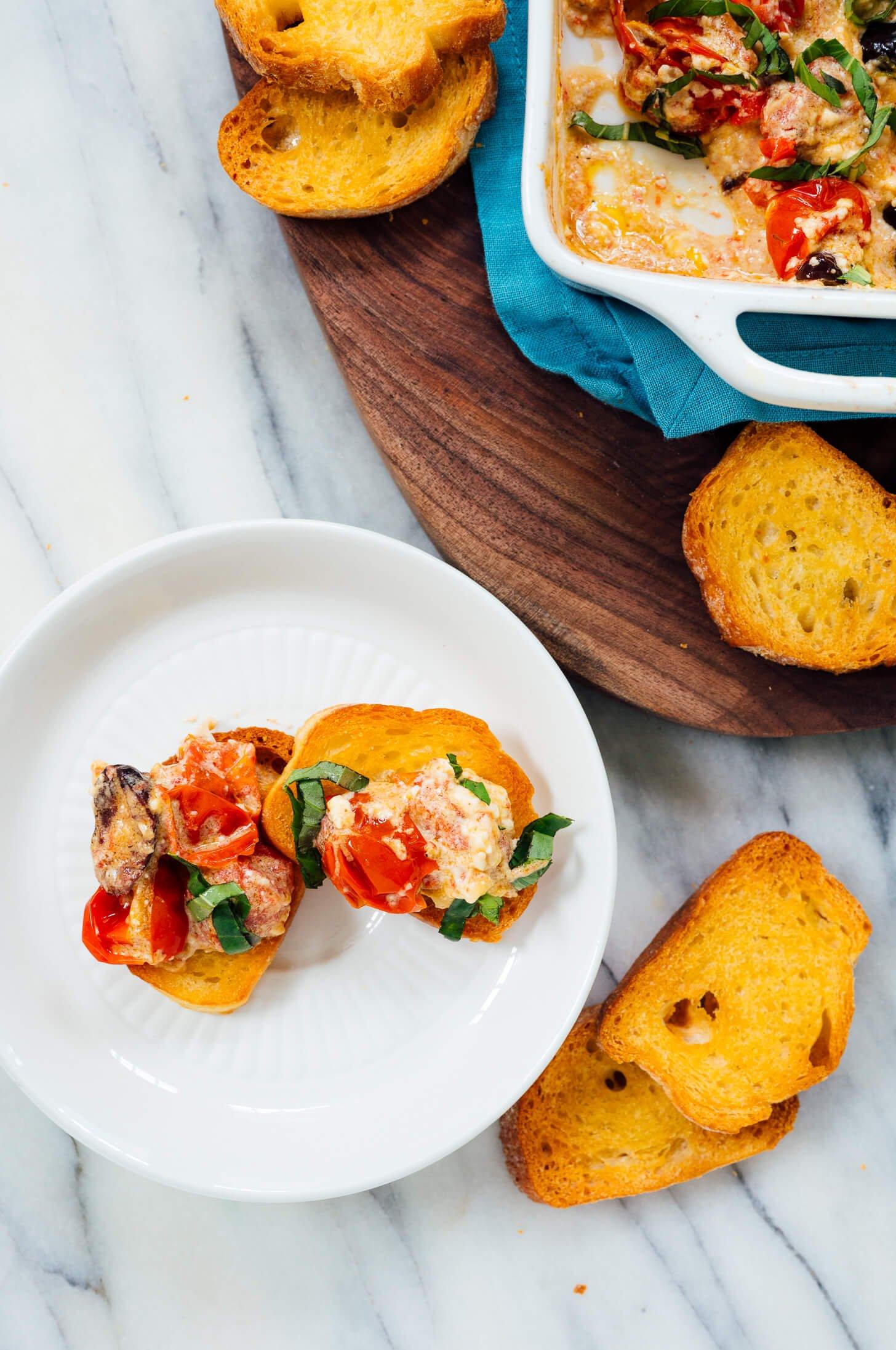 baked feta dip single serving