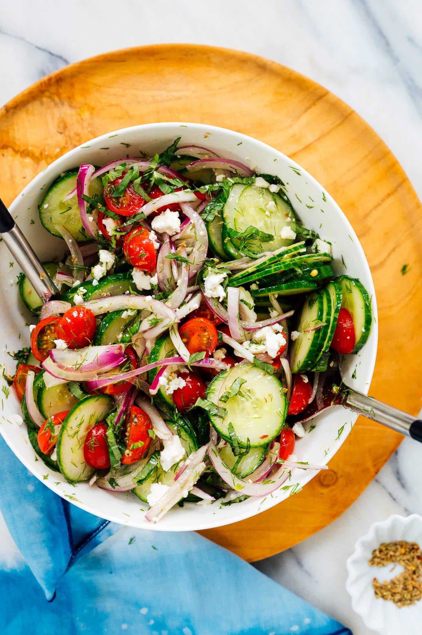 healthy tomato cucumber salad recipe