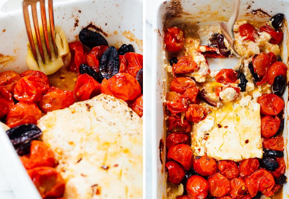 how to make baked feta dip