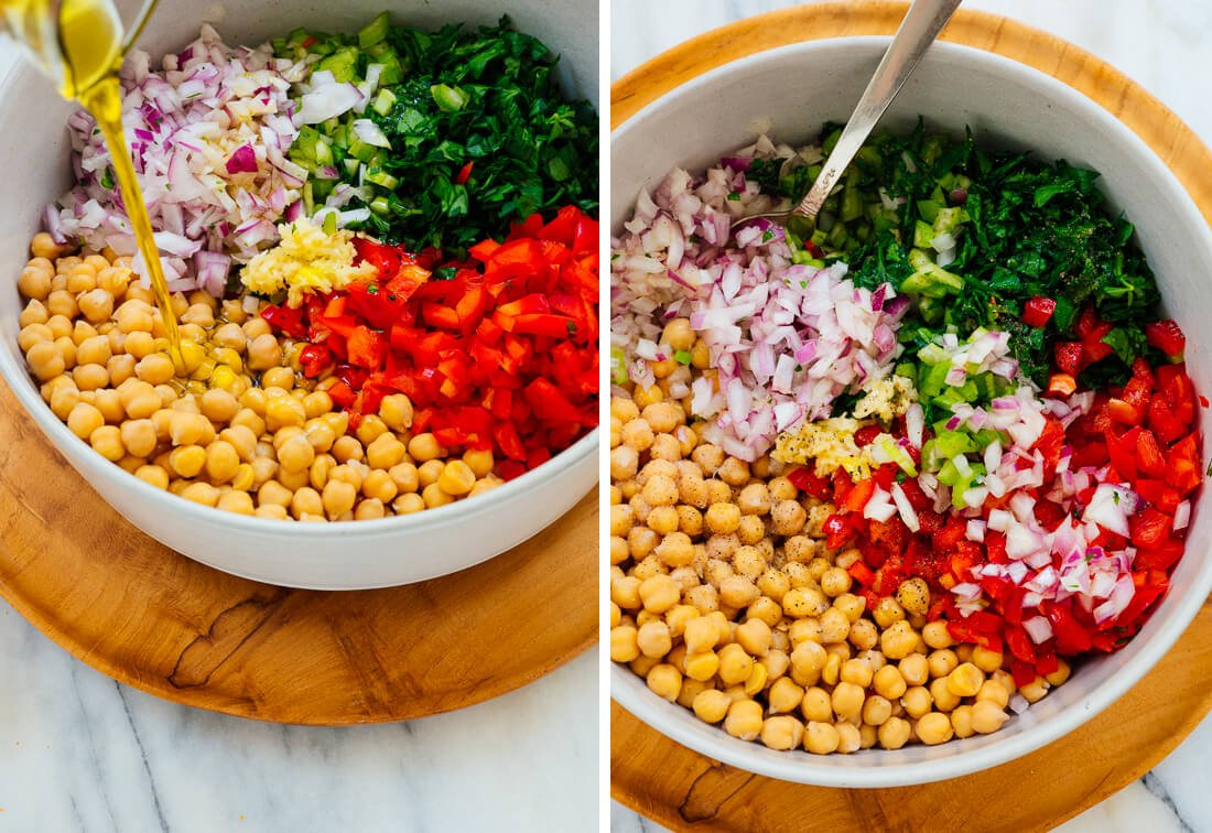 how to make chickpea salad
