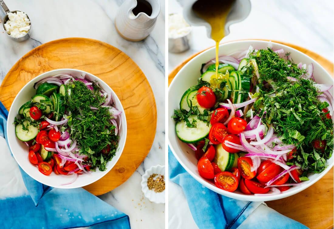 how to make cucumber tomato salad